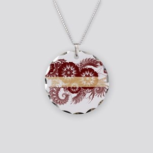 Latvia Flag Necklace Circle Charm