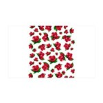 Red Rose Pattern 38.5 x 24.5 Wall Peel