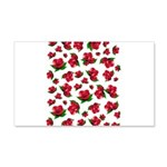 Red Rose Pattern 22x14 Wall Peel