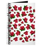 Red Rose Pattern Journal