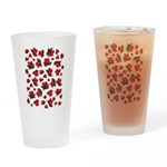 Red Rose Pattern Drinking Glass