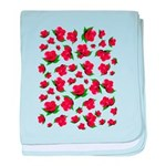 Red Rose Pattern baby blanket