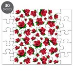 Red Rose Pattern Puzzle