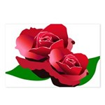 Two Red Roses Postcards (Package of 8)