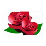 Two Red Roses 38.5 x 24.5 Wall Peel