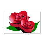Two Red Roses Car Magnet 20 x 12