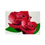 Two Red Roses Rectangle Magnet (10 pack)