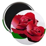 Two Red Roses Magnet