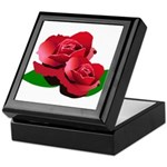 Two Red Roses Keepsake Box