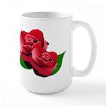 Two Red Roses Large Mug