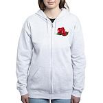 Two Red Roses Women's Zip Hoodie
