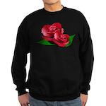 Two Red Roses Sweatshirt (dark)