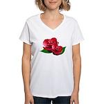 Two Red Roses Women's V-Neck T-Shirt