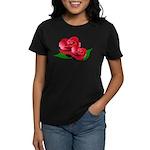 Two Red Roses Women's Dark T-Shirt