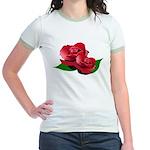 Two Red Roses Jr. Ringer T-Shirt