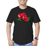 Two Red Roses Men's Fitted T-Shirt (dark)