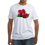 Two Red Roses Fitted T-Shirt