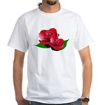 Two Red Roses White T-Shirt