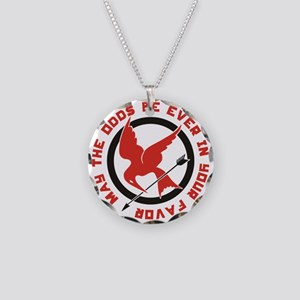 May the Odds be Ever in Your Necklace Circle Charm