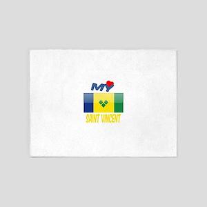 My Love Saint Vincent 5'x7'Area Rug