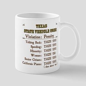 Texas Vehicle Code Mug