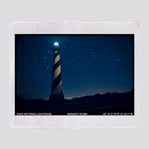 Hatteras Lighthouse. Throw Blanket