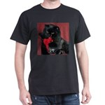 Black Persian Cat Black T-Shirt