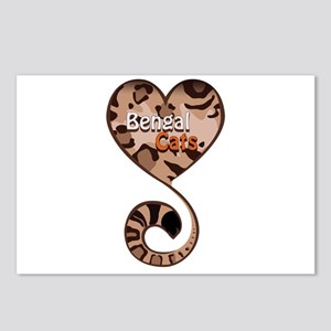 Bengal Cat Love Postcards (Package of 8)
