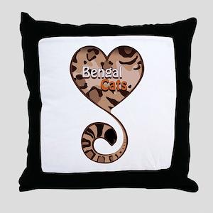 Bengal Cat Love Throw Pillow