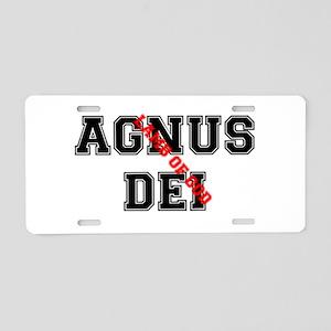 AGNUS DEI - LAMB OF GOD Aluminum License Plate