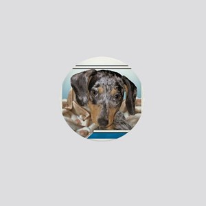 Speckled Dachshund Dogs Mini Button