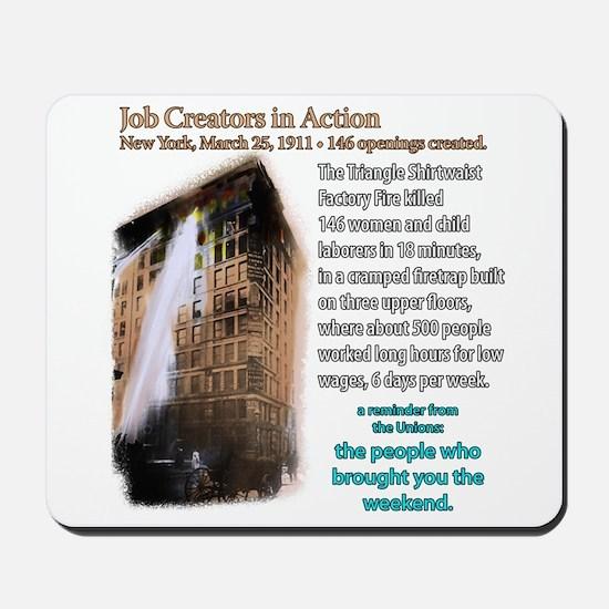 Job Creators: Triangle Fire Mousepad