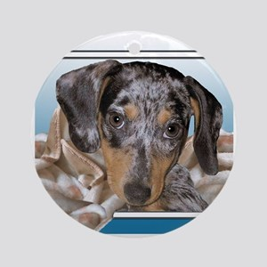 Speckled Dachshund Dogs Ornament (Round)