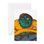 Zombie Fanboy Greeting Cards (Pk of 10)