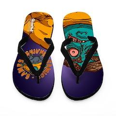 Zombie Fanboy Flip Flops