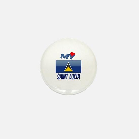 My Love Saint Lucia Mini Button