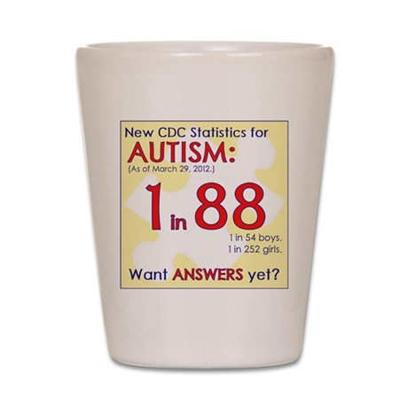 1 in 88 Want Answers v2 Shot Glass
