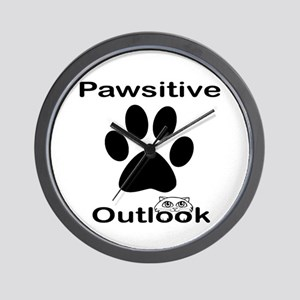 Pawsitive Outlook -- Cat Wall Clock
