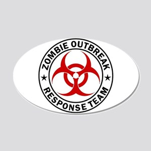 Zombie Outbreak Response Team 20x12 Oval Wall Deca
