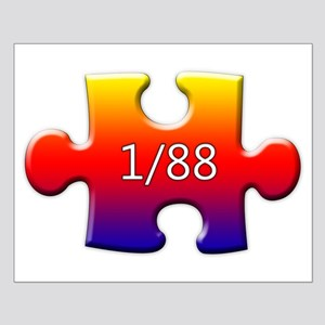 1 in 88 (Autistic) Small Poster
