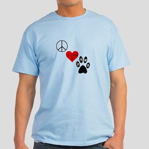 Peace Love & Paws Light T-Shirt