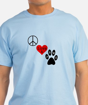 Peace Love & Paws T-Shirt