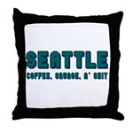 FUNNY SEATTLE Throw Pillow