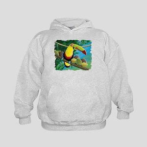 Rain Forest Toucan Kids Hoodie
