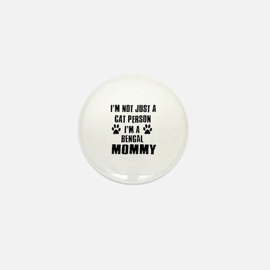 Bengal Cat Design Mini Button