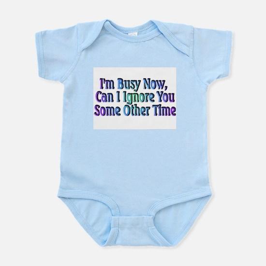 I'm Busy Infant Creeper