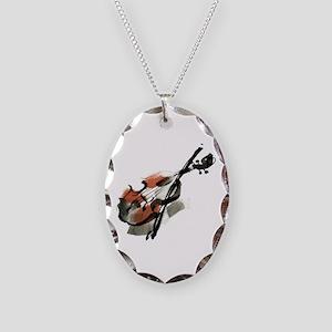 Violin Necklace Oval Charm