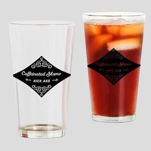 Caffeinated Moms Kick Ass Drinking Glass