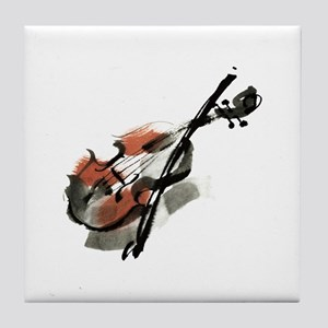 Violin Tile Coaster