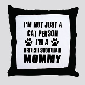British Short-hair Cat Design Throw Pillow